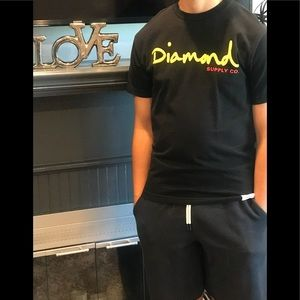 MEN'S DIAMOND SUPPLY CO BLACK T-SHIRT